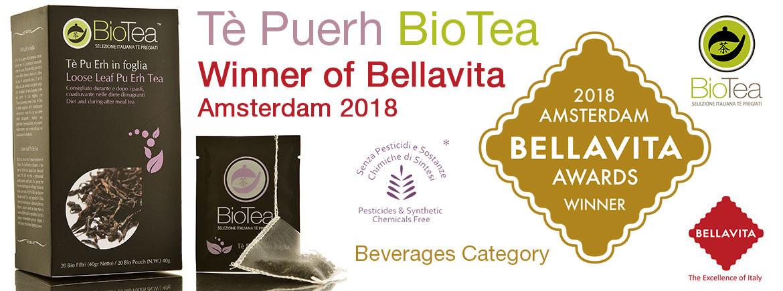 PUERH TEA WINNER OF BELLAVITA AMSTERDAM 2018