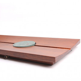 Pressed Bamboo Tea Table with a Stone Insert