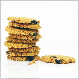 Millet Flakes Cookies with Dark Chocolate 70% - Without Flour