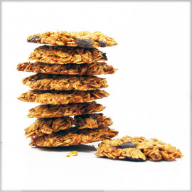 Oat Flakes Cookies with Dark Chocolate 70% - Without Flour