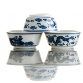"""Dragon""- 6 Teacups Set"