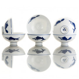 """Pisces""- 6 Teacups Set"